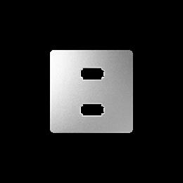 Pokrywa do gniazda 2 x USB (2.0) typ A, żeńskiego aluminium-251337