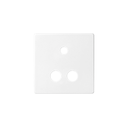 Pokrywa do gniazda Mini jack + 2 RCA biały-251368