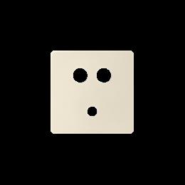 Pokrywa do gniazda Mini jack + 2 RCA kremowy-251369