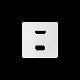 Pokrywa do gniazda USB + HDMI (V1.4), żeńskiego biały-251342