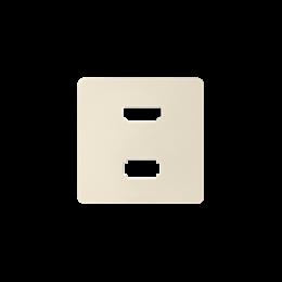 Pokrywa do gniazda USB + HDMI (V1.4), żeńskiego kremowy-251343
