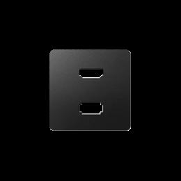 Pokrywa do gniazda USB + HDMI (V1.4), żeńskiego grafit-251344