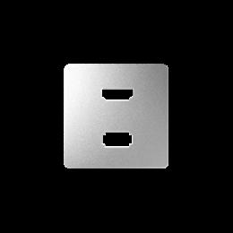 Pokrywa do gniazda USB + HDMI (V1.4), żeńskiego aluminium-251345