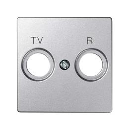 Pokrywa do gniazda antenowego R-TV-SAT WYCOFANY Z OFERTY - Dostępny do wyczerpania zapasów magazynowych, aluminium zimne-251299