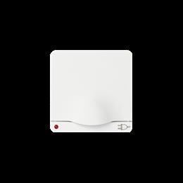 Pokrywa z klapką do gniazda wtyczkowego Schuko pokrywa z klapką i wskaźnikiem zasilania do gniazda wtyczkowego Schuko biały graf