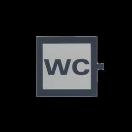 Filtr do klawisza świecącego tło białe - piktogram WC-251072