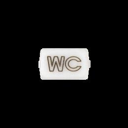 """Okienko białe do 82013 - piktogram """"WC""""-251044"""