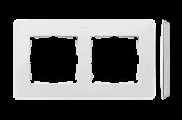 Ramka 2- krotna biały-250725