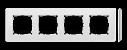 Ramka 4- krotna biały-250774