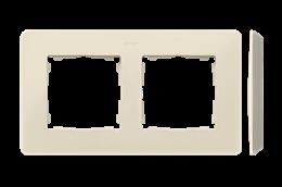 Ramka 2- krotna kremowy-250727