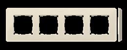 Ramka 4- krotna kremowy-250775