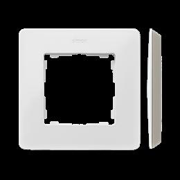 Ramka 1- krotna biały ciepły Kol.podst.:szary ciepły-250728