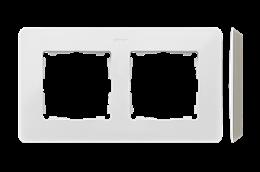 Ramka 2- krotna biały ciepły-250729