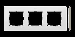 Ramka 3- krotna biały ciepły-250751