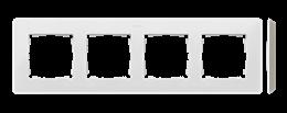 Ramka 4- krotna biały ciepły-250776