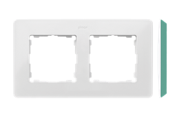 Ramka 2- krotna akwamaryn biały-250731