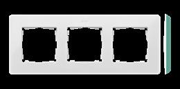 Ramka 3- krotna akwamaryn biały-250752