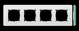 Ramka 4- krotna akwamaryn biały-250777