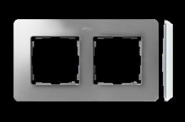 Ramka 2- krotna aluminium biały-250753