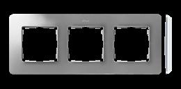 Ramka 3- krotna aluminium biały-250754