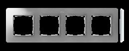 Ramka 4- krotna aluminium biały-250778
