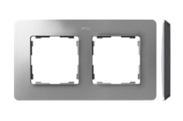 Ramka 2- krotna aluminium czarny-250755