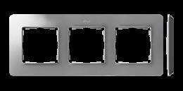 Ramka 3- krotna aluminium czarny-250756