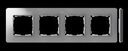 Ramka 4- krotna aluminium czarny-250779