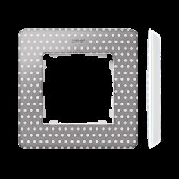 Ramka 1- krotna biały szary ciepły-250734