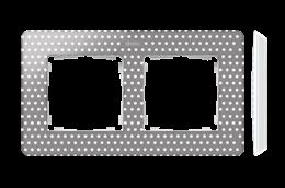 Ramka 2- krotna biały szary ciepły-250757
