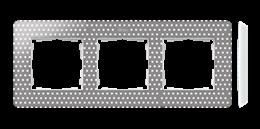 Ramka 3- krotna biały szary ciepły-250780