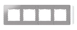 Ramka 4- krotna szary ciepły-250781
