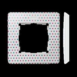 Ramka 1- krotna biały wielobarwny-250737