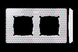 Ramka 2- krotna biały wielobarwny-250760