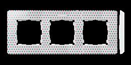 Ramka 3- krotna biały wielobarwny-250786