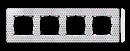 Ramka 4- krotna biały wielobarwny-250787