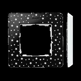 Ramka 1- krotna biały czarny-250738