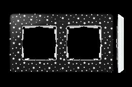 Ramka 2- krotna biały czarny-250761