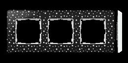 Ramka 3- krotna biały czarny-250788