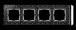Ramka 4- krotna biały czarny-250789