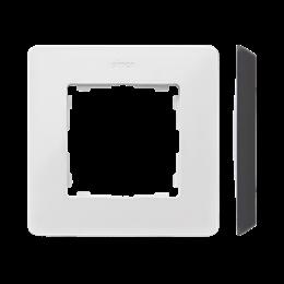 Ramka 1- krotna biały czarny-250739