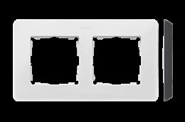 Ramka 2- krotna biały czarny-250740