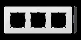 Ramka 3- krotna biały czarny-250762