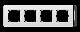 Ramka 4- krotna biały czarny-250790