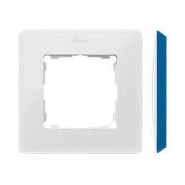 Ramka 1- krotna biały indygo-250741