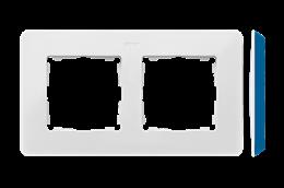 Ramka 2- krotna biały indygo-250742