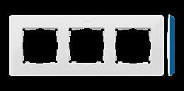 Ramka 3- krotna biały indygo-250763