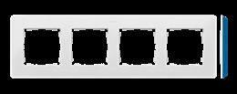 Ramka 4- krotna biały indygo-250791
