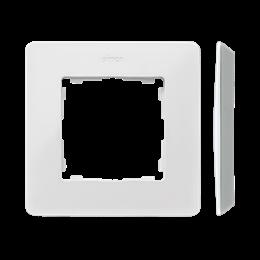 Ramka 1- krotna aluminium biały-250744