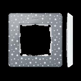 Ramka 1- krotna biały szary zimny-250747